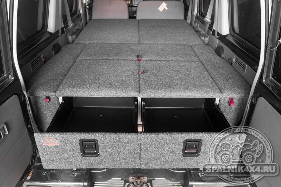 Автомобильный спальник с интегрированным столом для Toyota Land Cruiser 76 - охотник