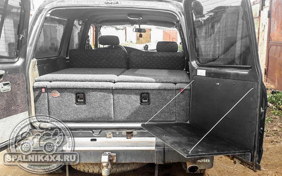 Откидной столик для Тойота Ленд Крузер 80 с распашными дверями