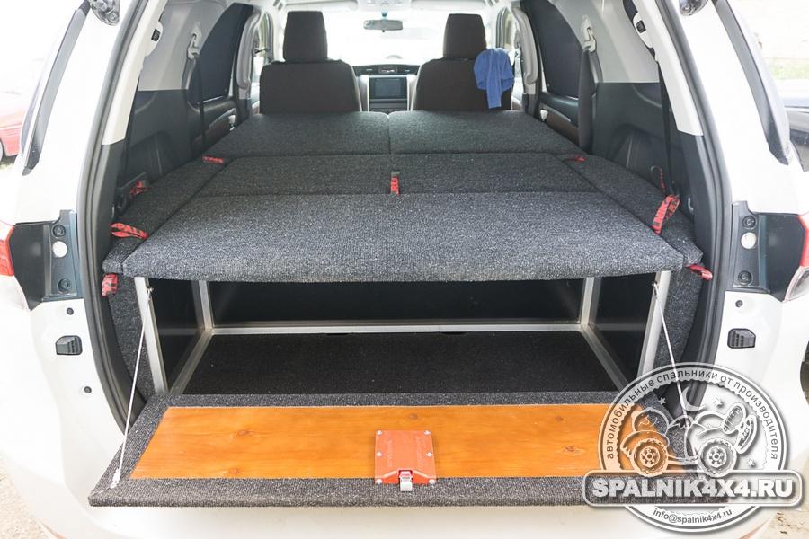 Нестандартный спальник для Toyota Fortuner второго поколения созданный вокруг баллона ГБО