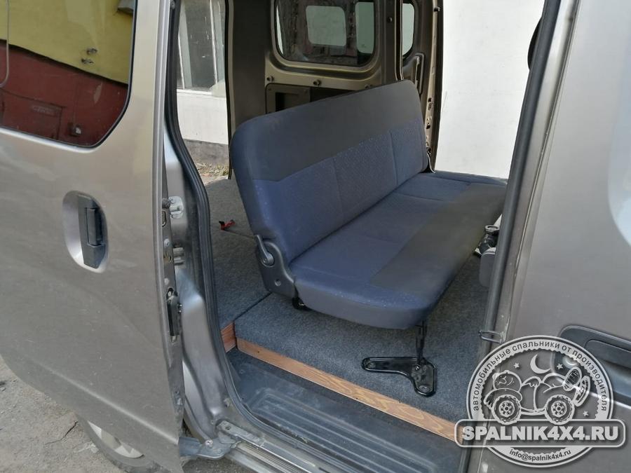 Нестандартный спальник для микроавтобуса NV 200 с воздушным подогревом