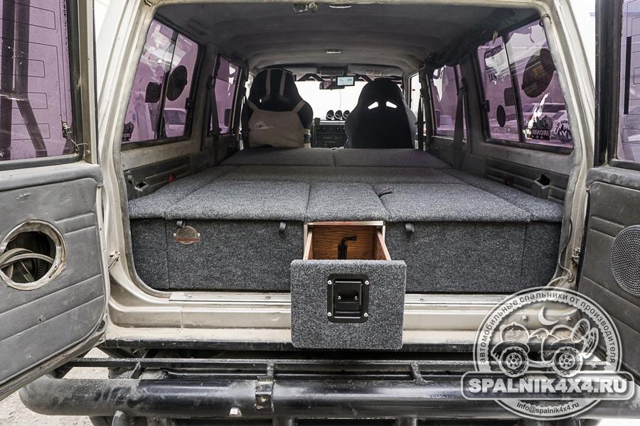 Нестандартный спальник для Nissan Safari /  Patrol Y60 построенный по требованиям заказчика