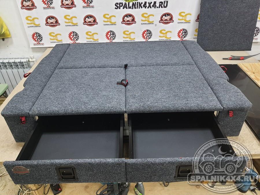 Автомобильный спальник с интегрированным раскладным столом для Nissan Safari Y60