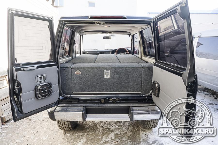 Автомобильный спальник для трехдверного Тойота Прадо 71 с сохранением двух рядов сидений