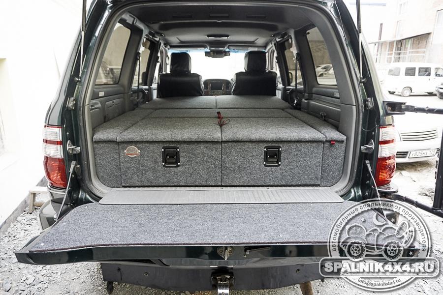 Спальник для ТЛК100 стандартной комплектации + накладка на заднюю откидную дверь