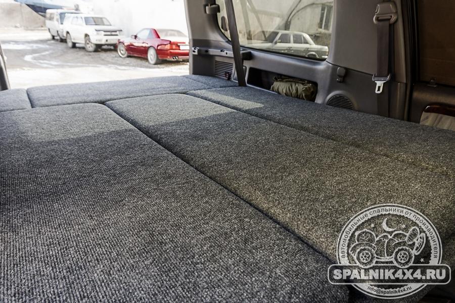Автомобильный спальник для трехдверного Тойота Прадо 90 с сохранением двух рядов сидений