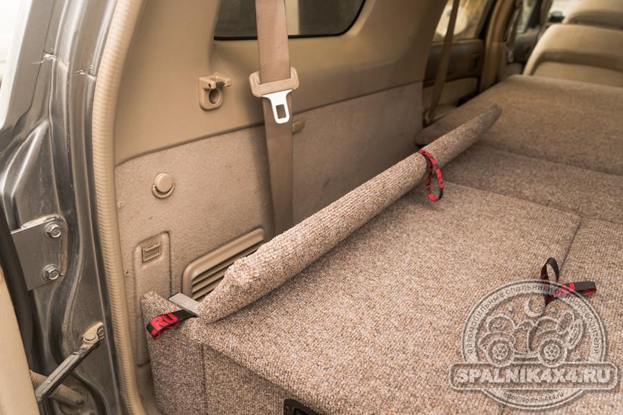 Автомобильный спальник для Nissan Safari Y61 с ящиками увеличенного объема, разной ширины и интегрированным столом