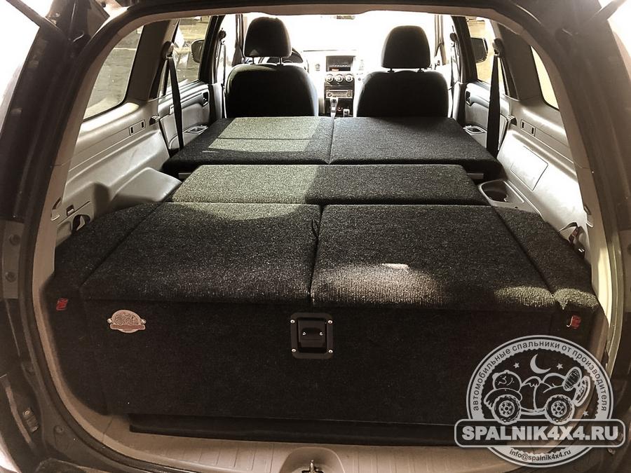 Автоспальник для MMC Pajero Sport второго поколения без выдвижных ящиков - моноотсек